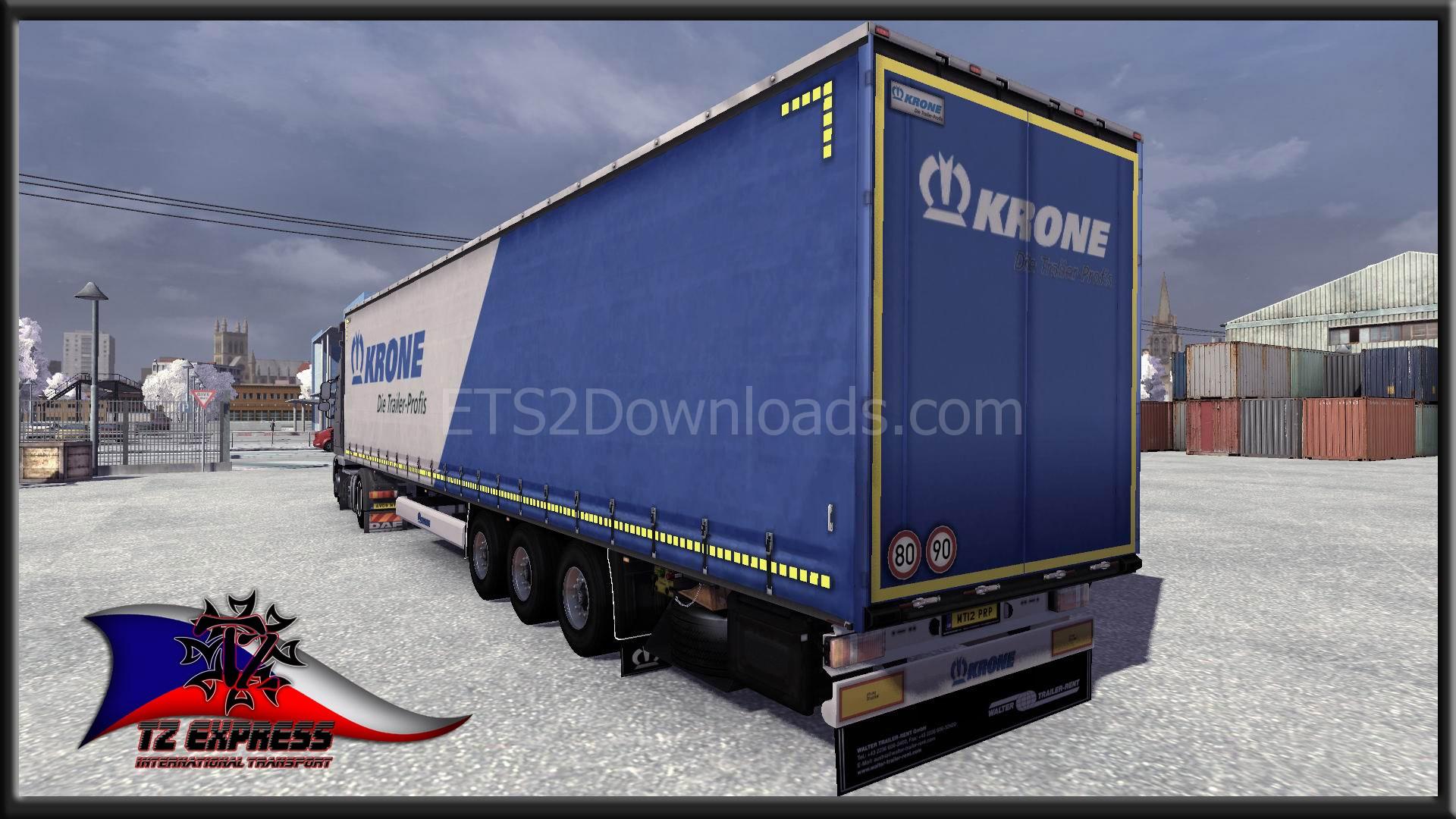 Krone Mega Trailers Skins Pack - ETS 2 Mods | ETS2Downloads