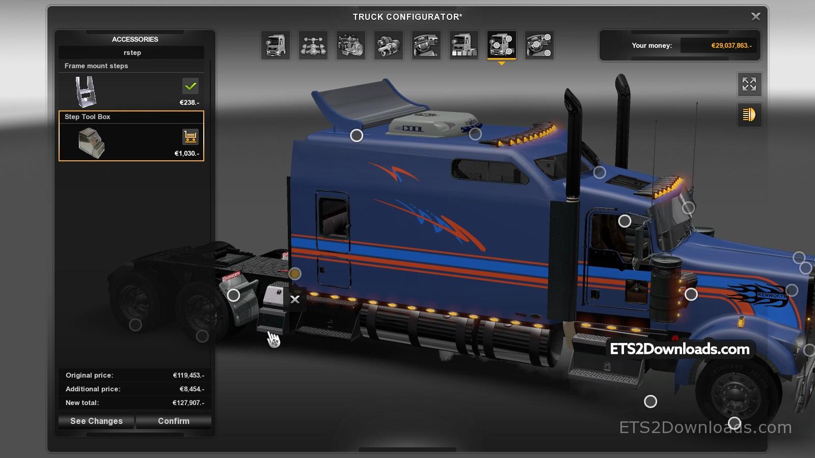 Kenworth W900 Long Euro Truck Simulator 2 Spot – Kenworth W900b Wiring Diagram