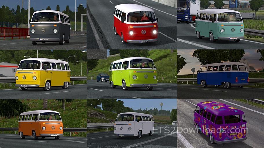 volkswagen combi t2 euro truck simulator 2 mods. Black Bedroom Furniture Sets. Home Design Ideas