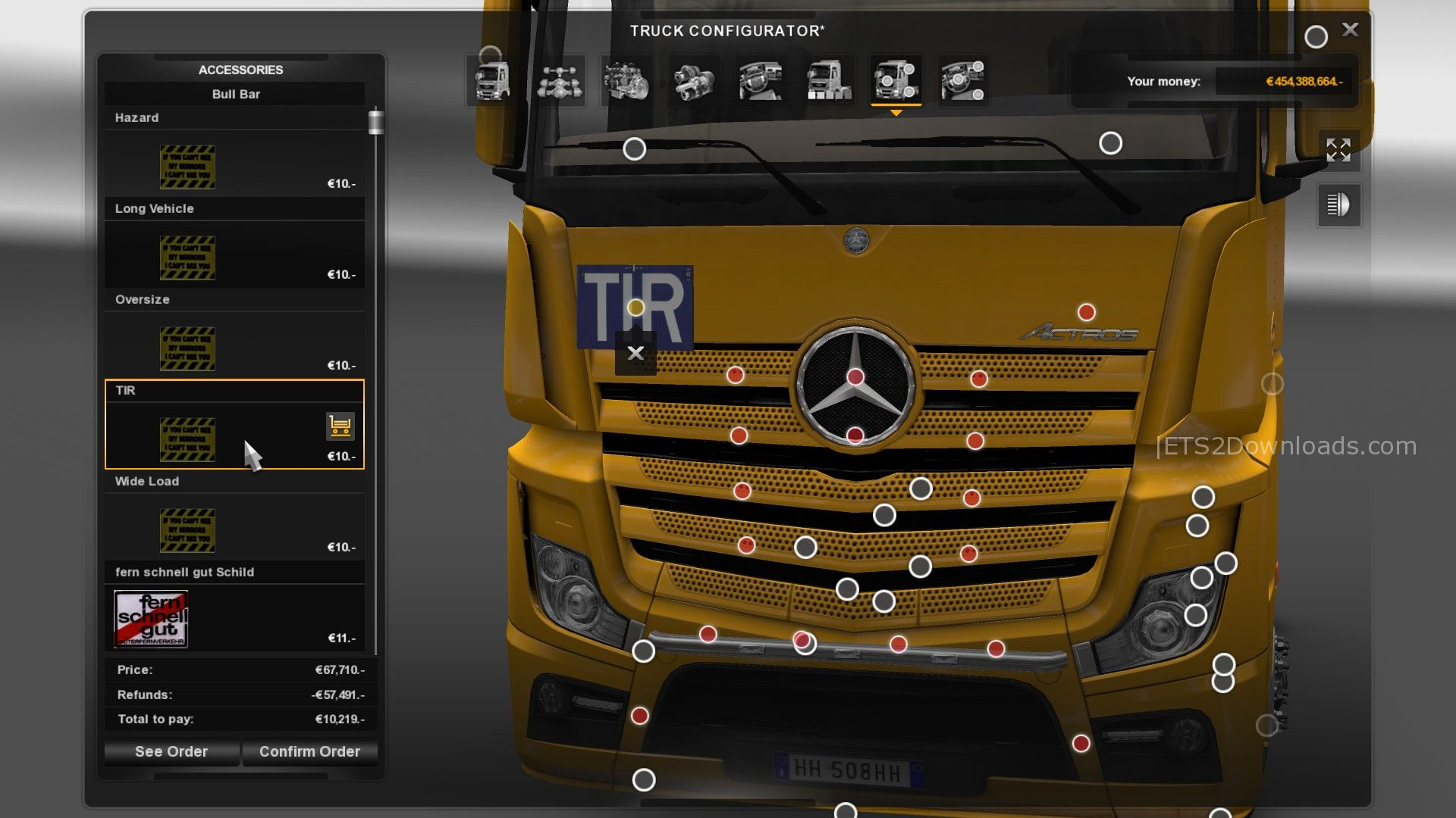 Actros MP4 Addons   ETS 2 mods