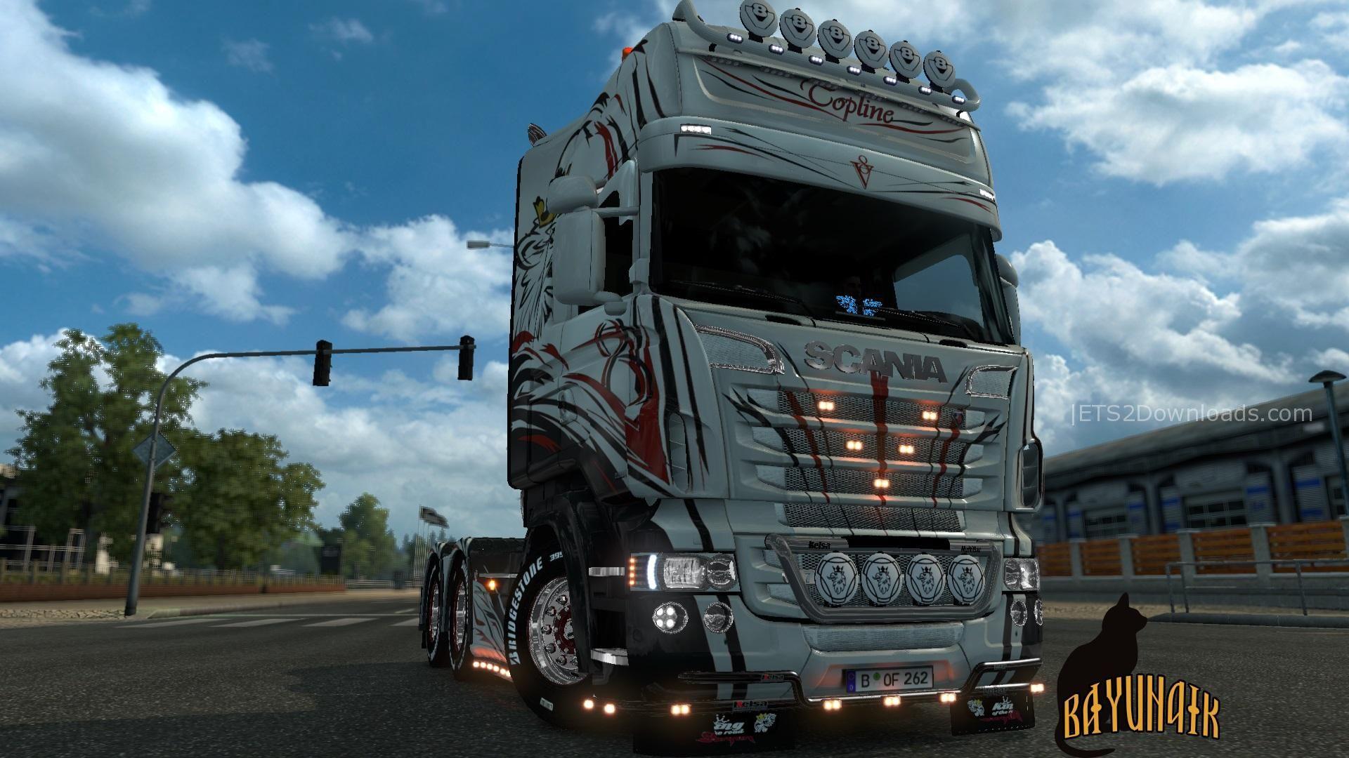 Scania R S Topline V8 Skin 1 26 Ets 2 Mods Ets2downloads - Www imagez co