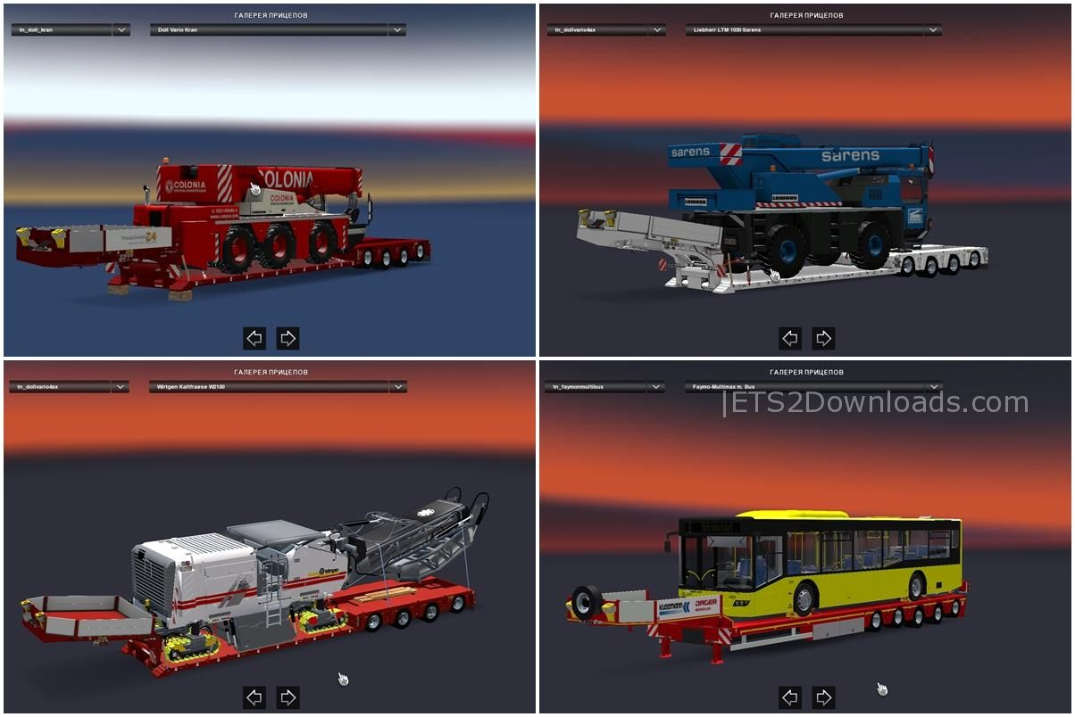 big pack of heavy and oversized trailers ets 2 mods. Black Bedroom Furniture Sets. Home Design Ideas