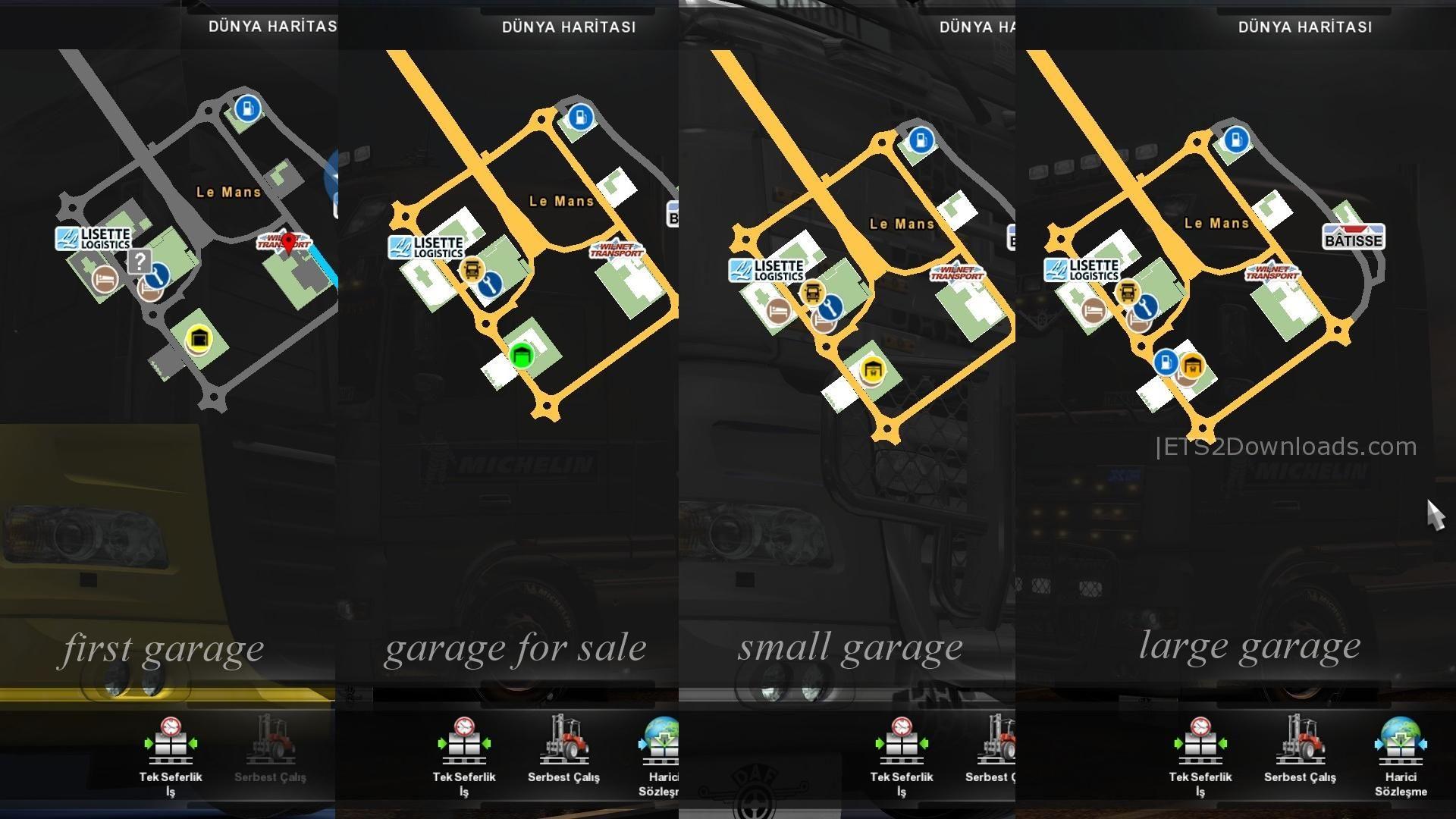 google maps navigation night version for promods ets 2 mods ets2downloads. Black Bedroom Furniture Sets. Home Design Ideas