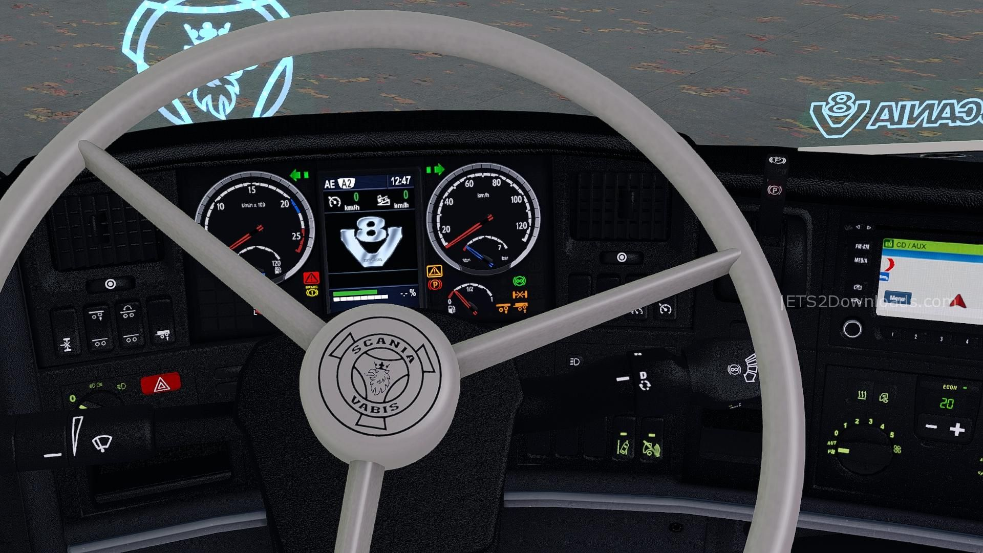 Real Scania Dashboard Update 1 28 X Ets 2 Mods