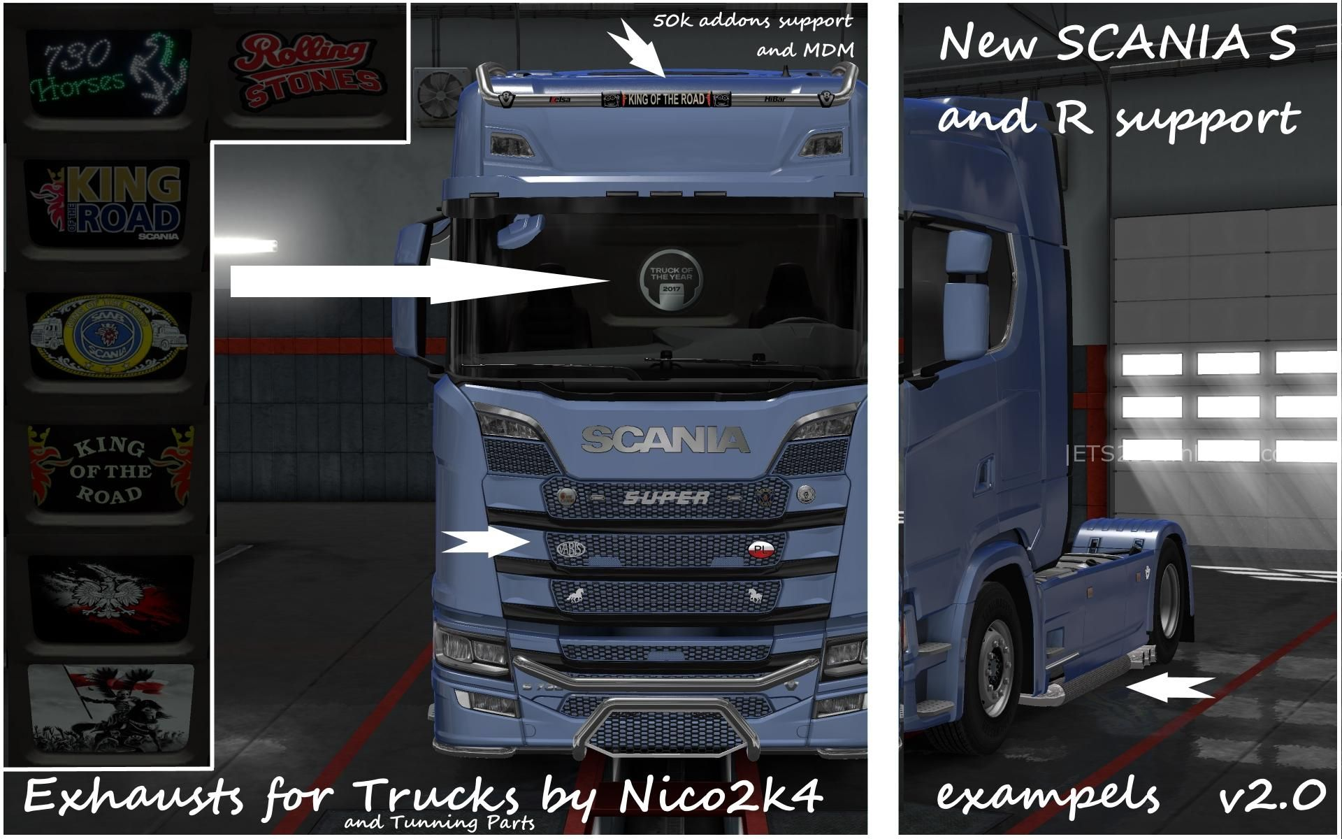 Exhausts Amp Tuning Parts For Trucks V2 0 1 30 Ets 2 Mods