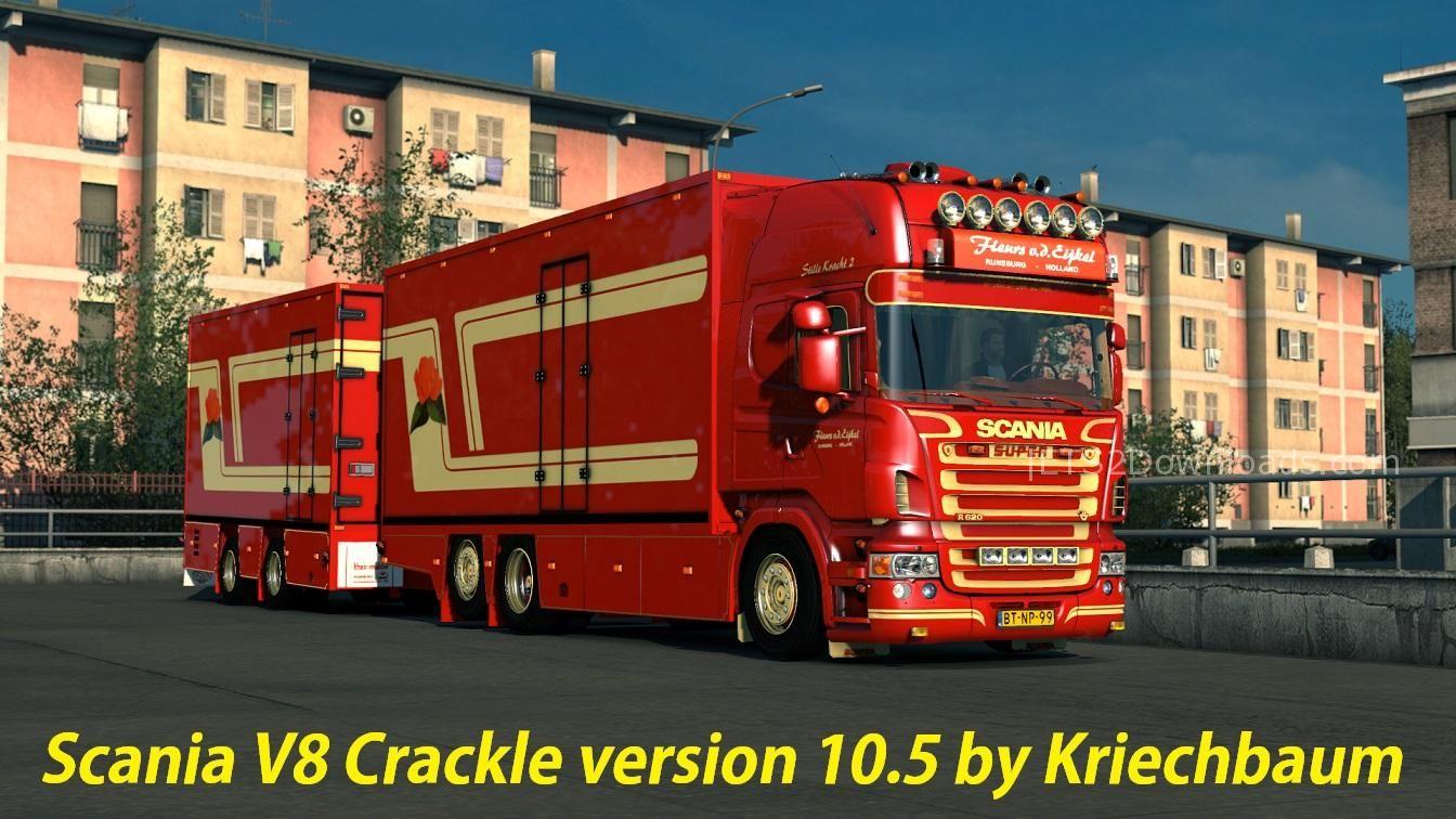Scania V8 Crackle Version v10.5 - ETS 2 Mods | ETS2Downloads