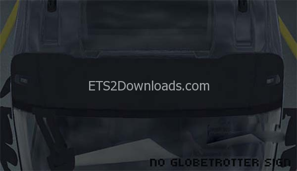 remove-globetrotter-sign-for-volvo-fh-2013