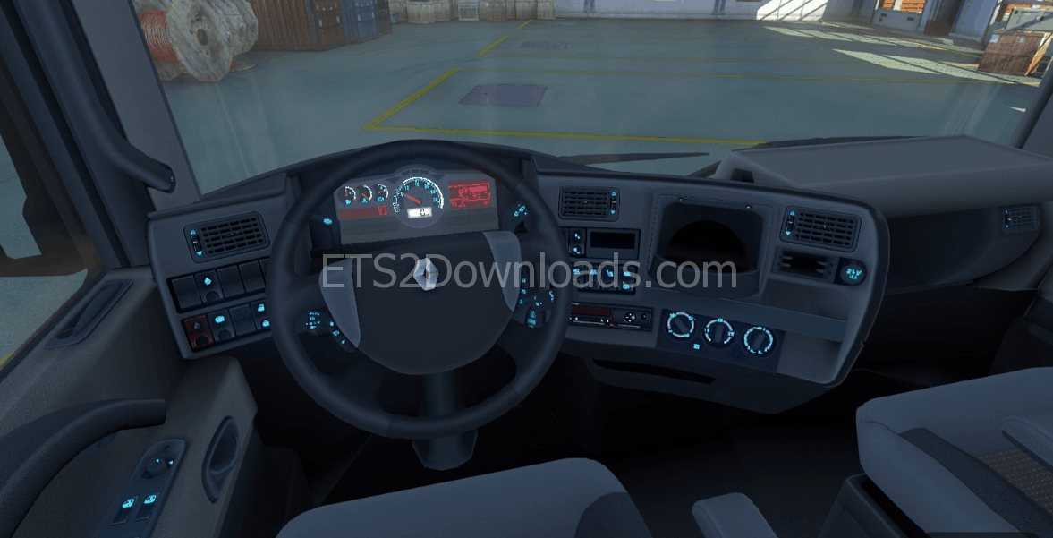 Darker Interior for Renault Magnum - Euro Truck Simulator 2 Mods