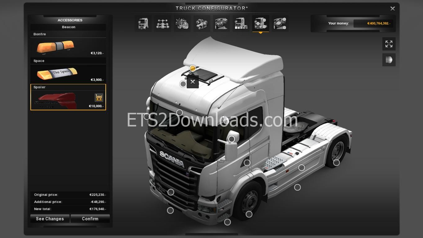 Highline Spoiler for Scania Streamline
