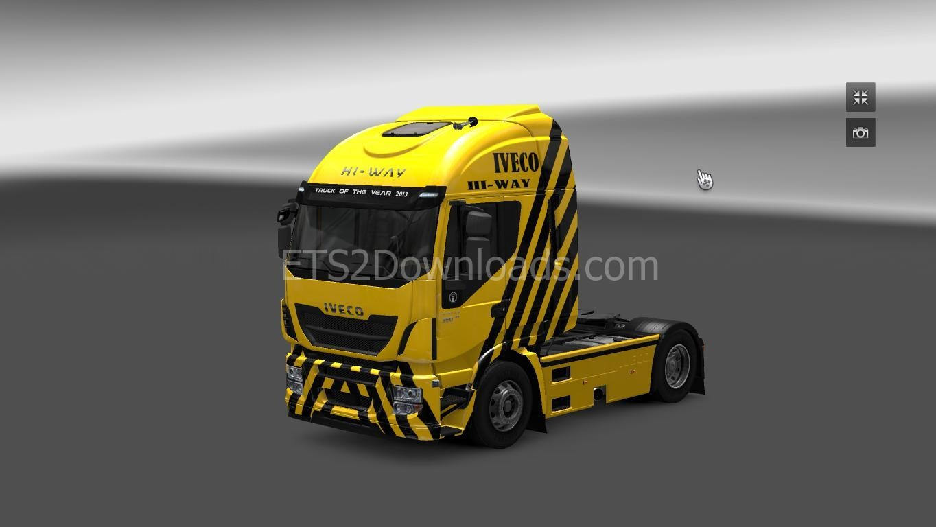 iveco-hi-way-skin-yellow-ets2-1