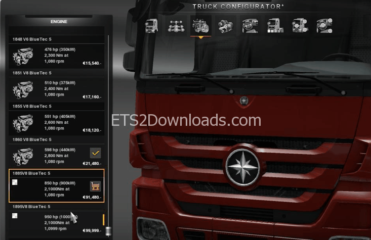 new-engines-850-950-for-mercedes-benz-actros-ets2