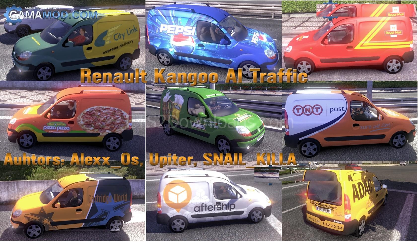 renault kangoo for ai traffic euro truck simulator 2 mods. Black Bedroom Furniture Sets. Home Design Ideas