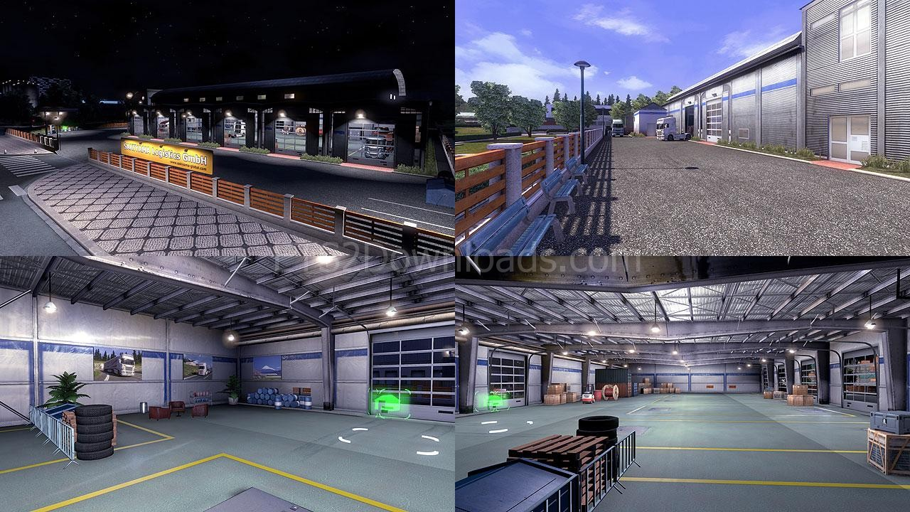 custom large garage ets 2 mods ets2downloads