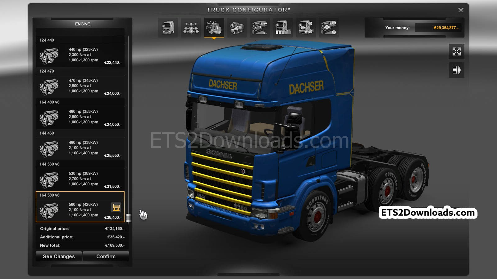 scania 164l v1 1 add ons euro truck simulator 2 mods. Black Bedroom Furniture Sets. Home Design Ideas