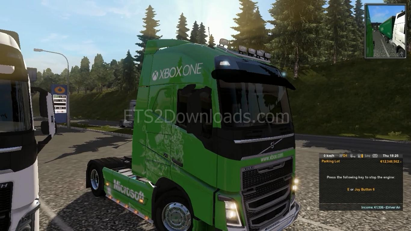 xbox one skin for volvo fh 2013 euro truck simulator 2 mods. Black Bedroom Furniture Sets. Home Design Ideas
