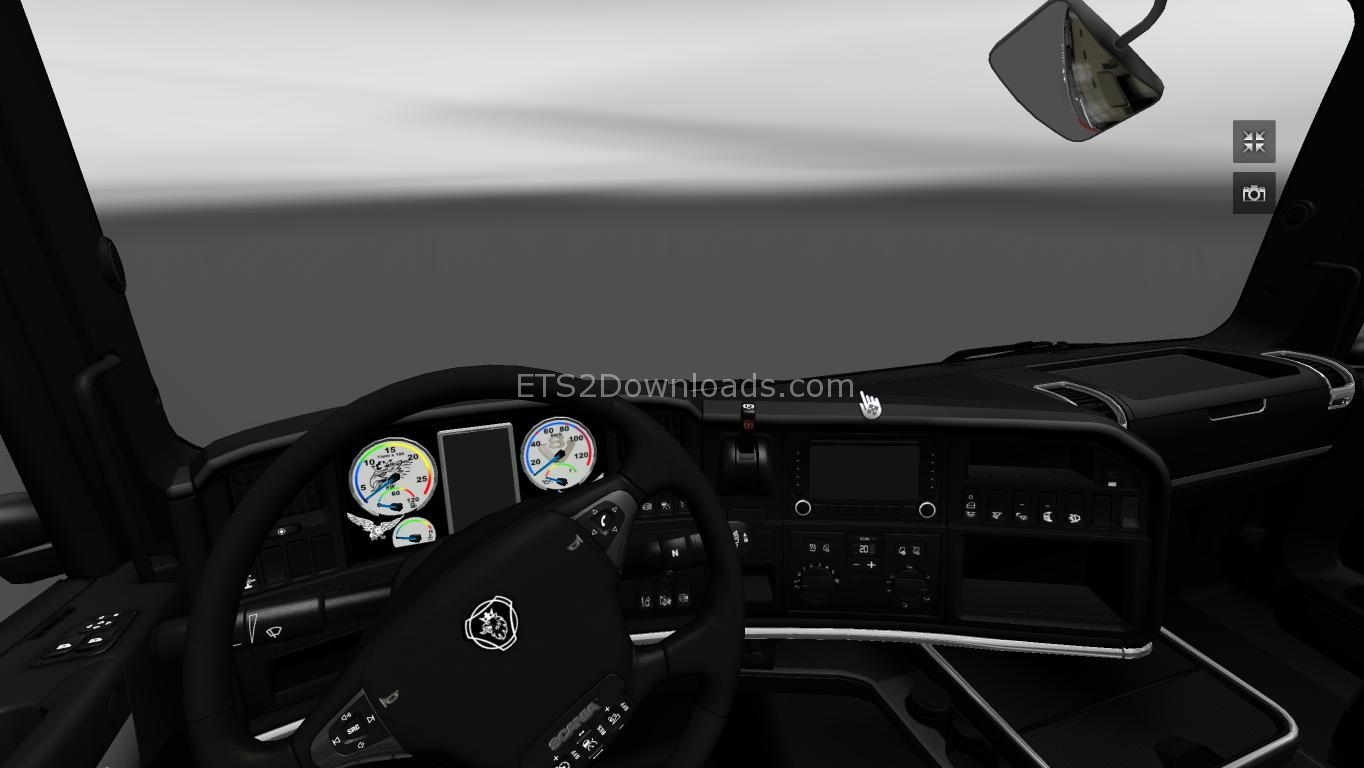 Download dark line exclusive interior for ets 2