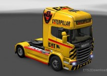 cat-v8-skin-for-scania-r-ets2