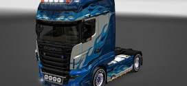 Blue Flame Skin for Scania R700