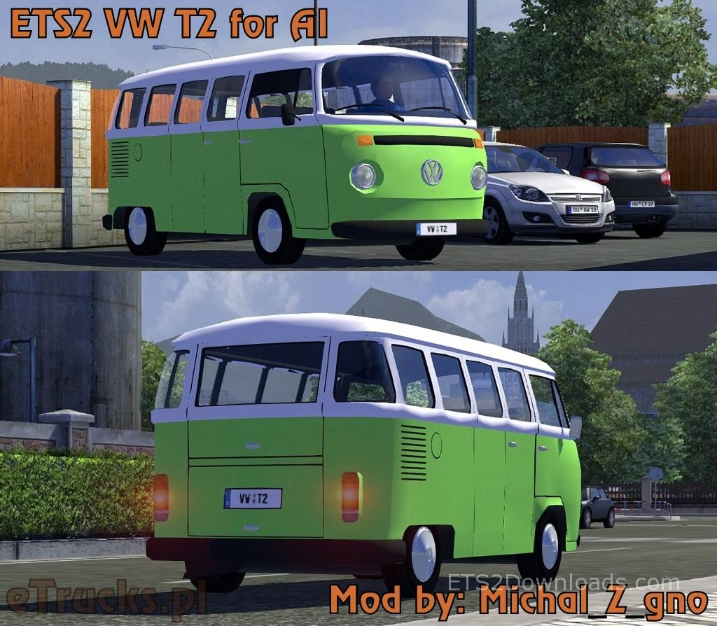volkswagen type 2 euro truck simulator 2 mods. Black Bedroom Furniture Sets. Home Design Ideas