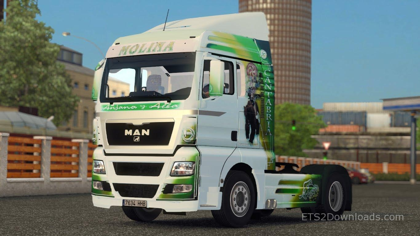 molina skin for man tgx euro truck simulator 2 mods. Black Bedroom Furniture Sets. Home Design Ideas