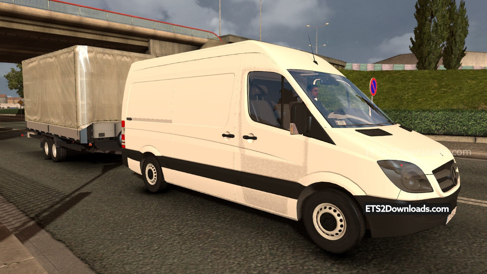 mercedes benz sprinter trailer euro truck simulator 2 mods. Black Bedroom Furniture Sets. Home Design Ideas