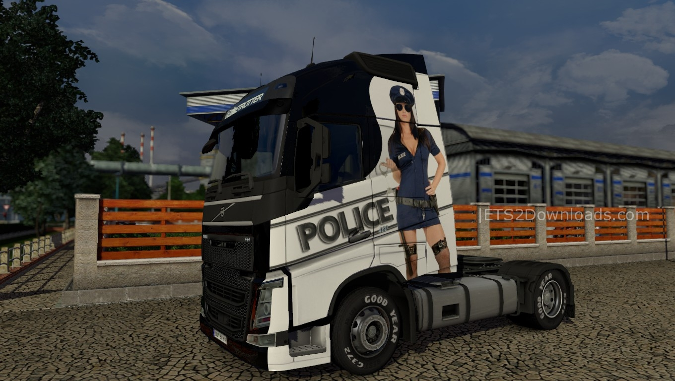 police-girl-skin-for-volvo-1