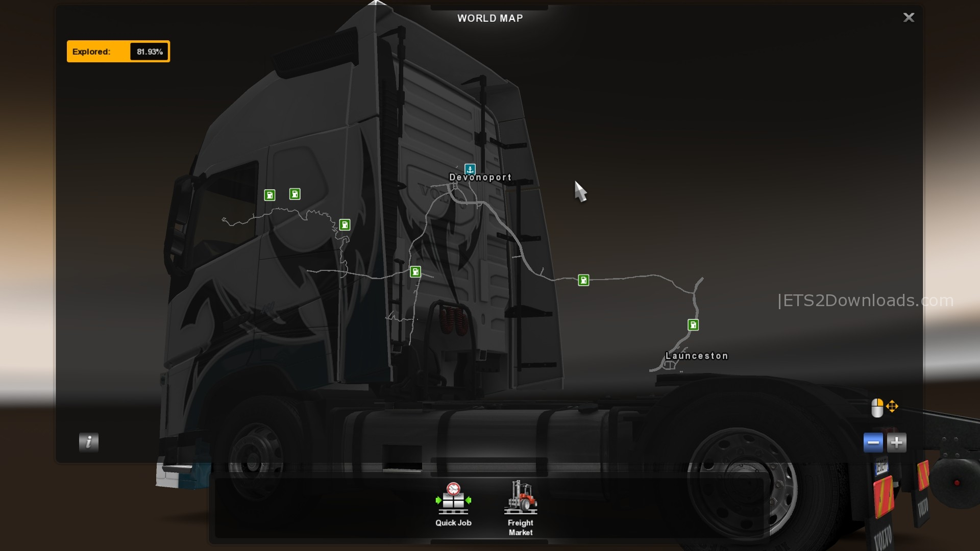 Australia Map Ets2.Australia Map Euro Truck Simulator 2 Kameroperafestival