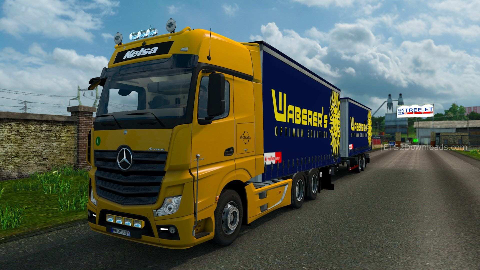 Mercedes benz actros tandem tuning pack euro truck for Mercedes benz astros