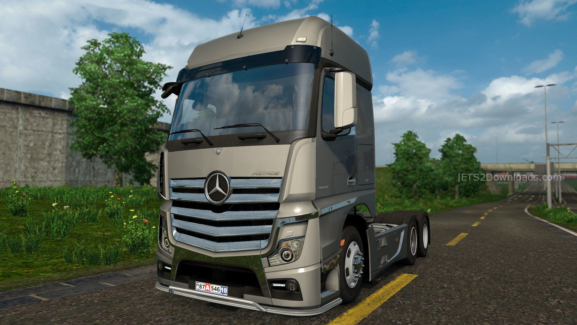 hempam tuning pack for mercedes benz actros mp4 ets 2 mods ets2downloads. Black Bedroom Furniture Sets. Home Design Ideas