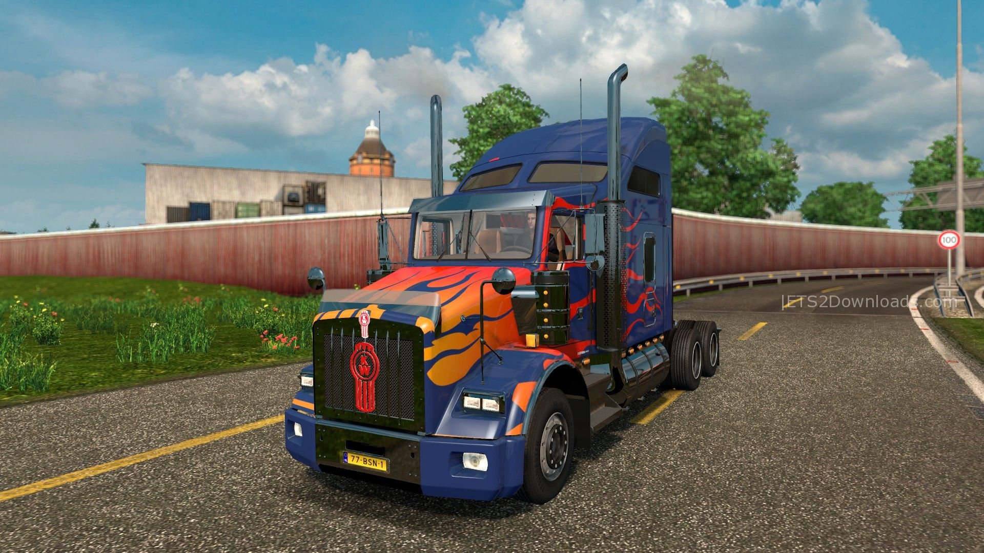 optimus-prime-skin-for-kenworth-t8000-1