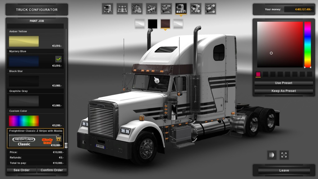 z-stripe-wmasks-skin-for-freightliner-classic-1