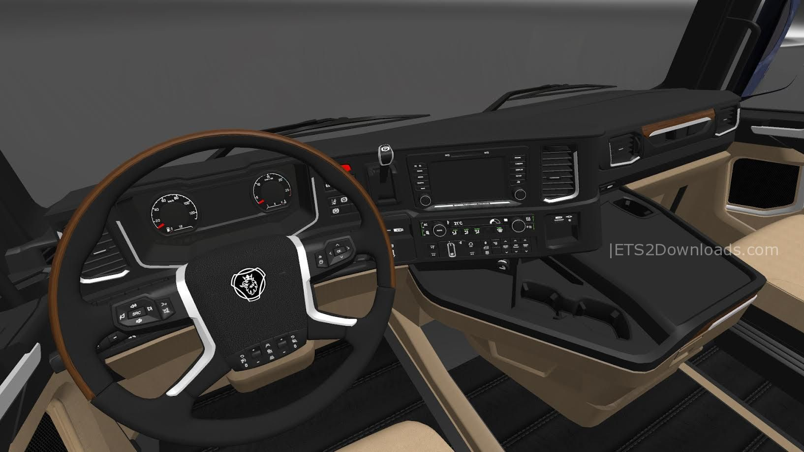 Hd interior for scania s730 v1 0 euro truck simulator 2 spot for Interior design simulator