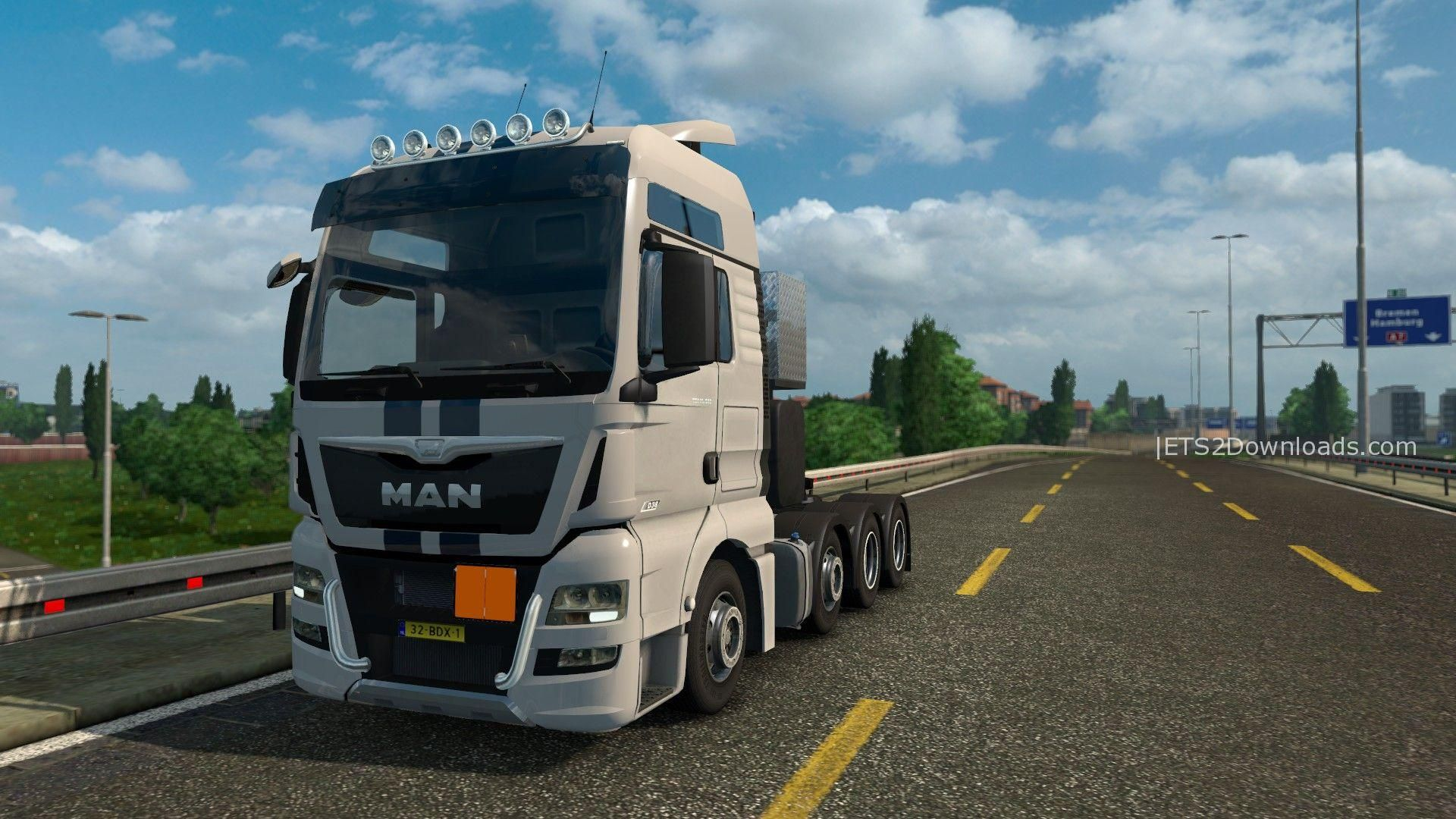 man tgx 8x4 10x4 v8 1 ets 2 mods ets2downloads. Black Bedroom Furniture Sets. Home Design Ideas