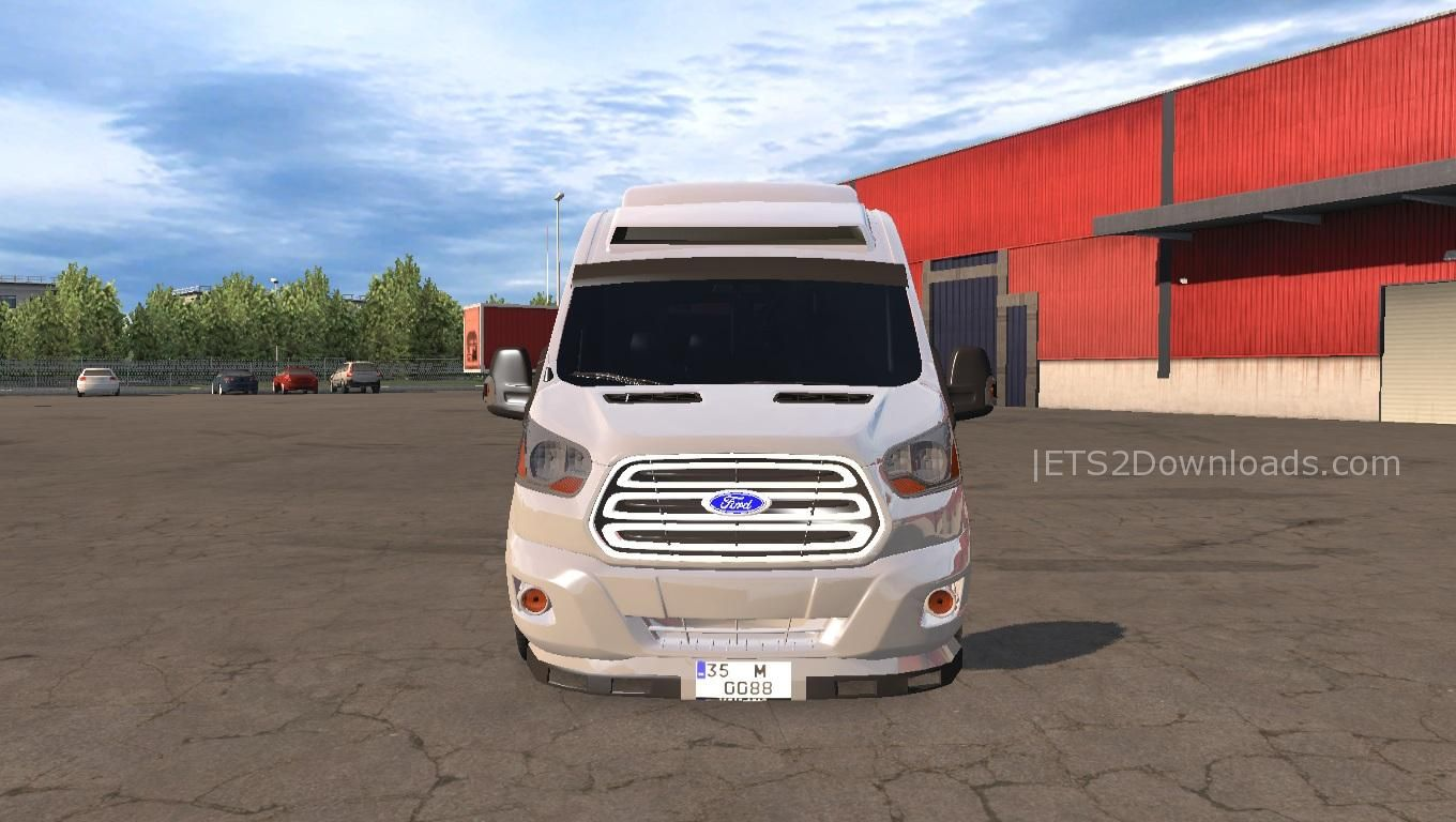 ford transit 2017 vip ets 2 mods ets2downloads. Black Bedroom Furniture Sets. Home Design Ideas