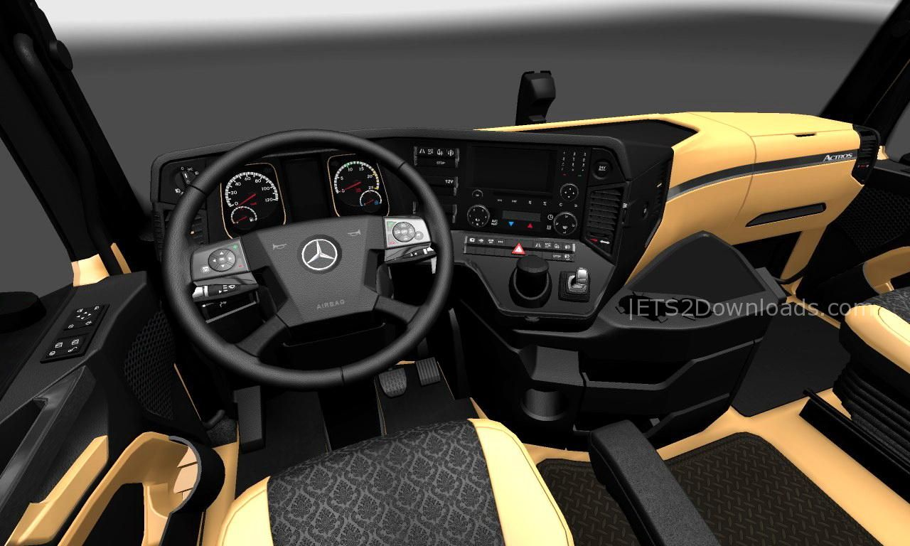 the luxury interior for mercedes benz new actros ets 2