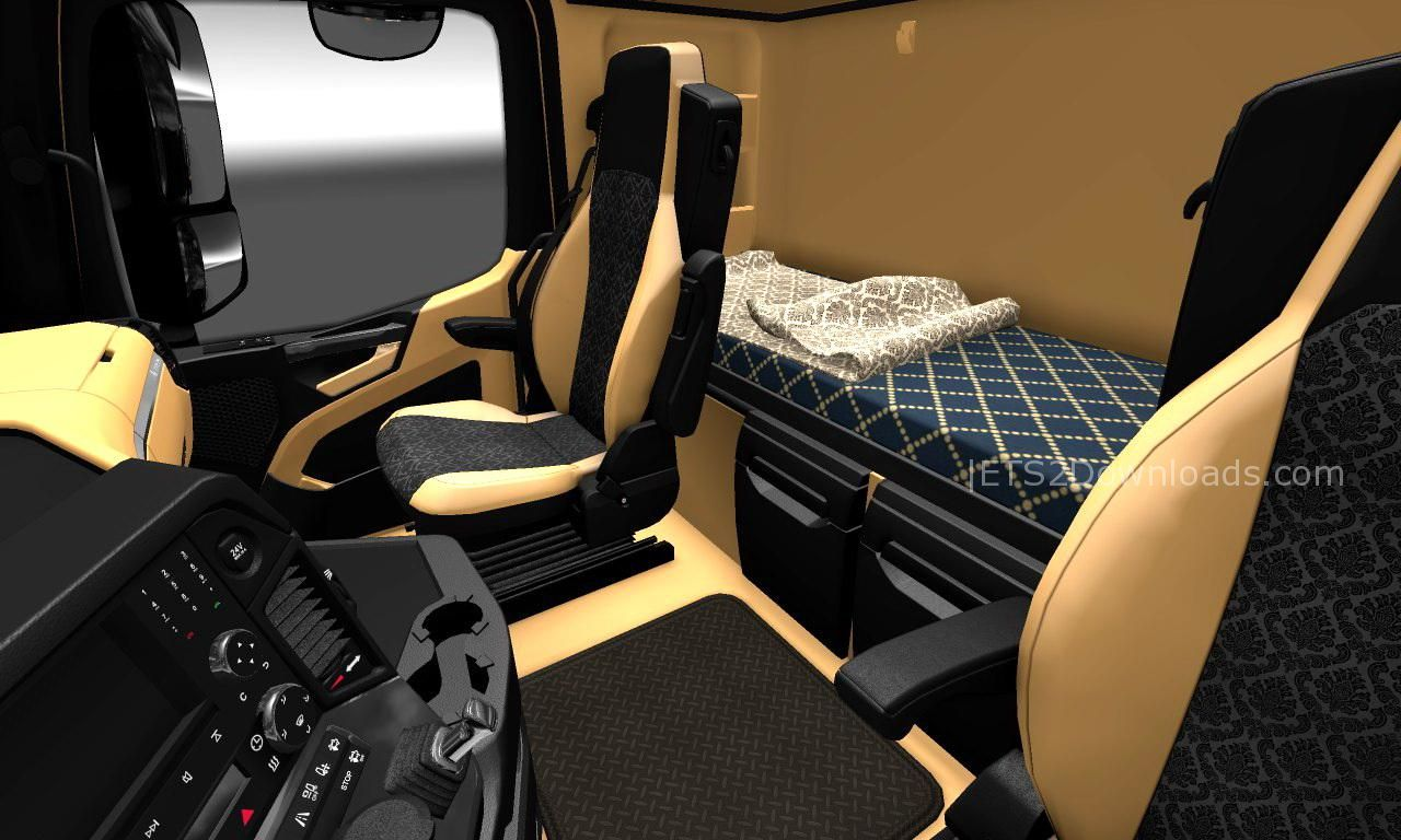 The luxury interior for mercedes benz new actros ets 2 for Mercedes benz interiors
