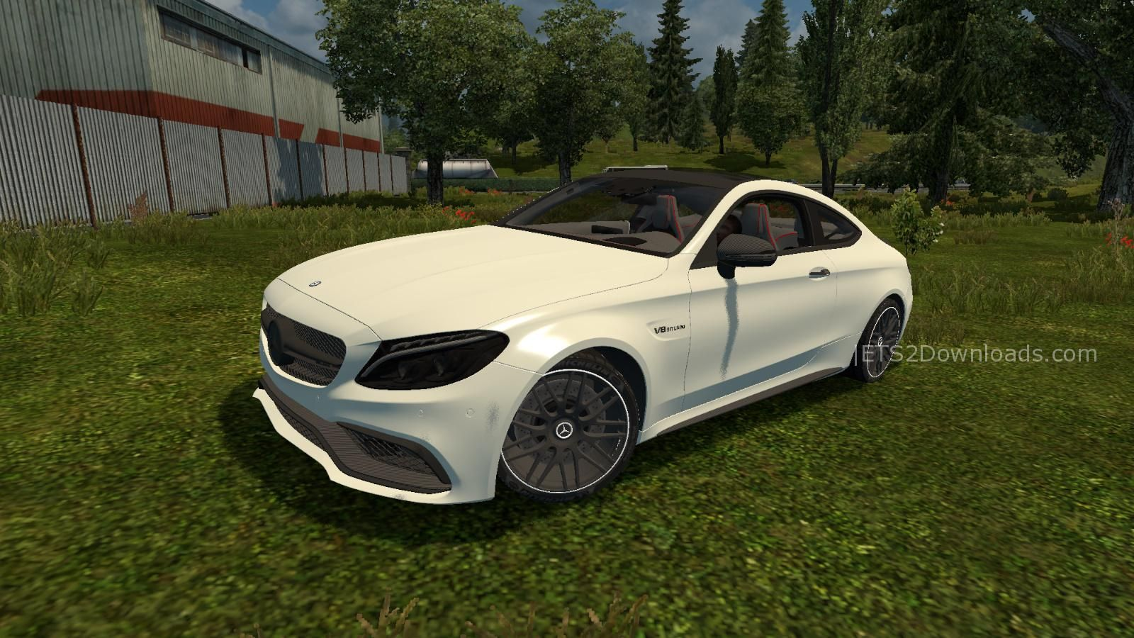 Mercedes benz c63s amg v1 0 ets 2 mods ets2downloads for Mercedes benz cars pictures