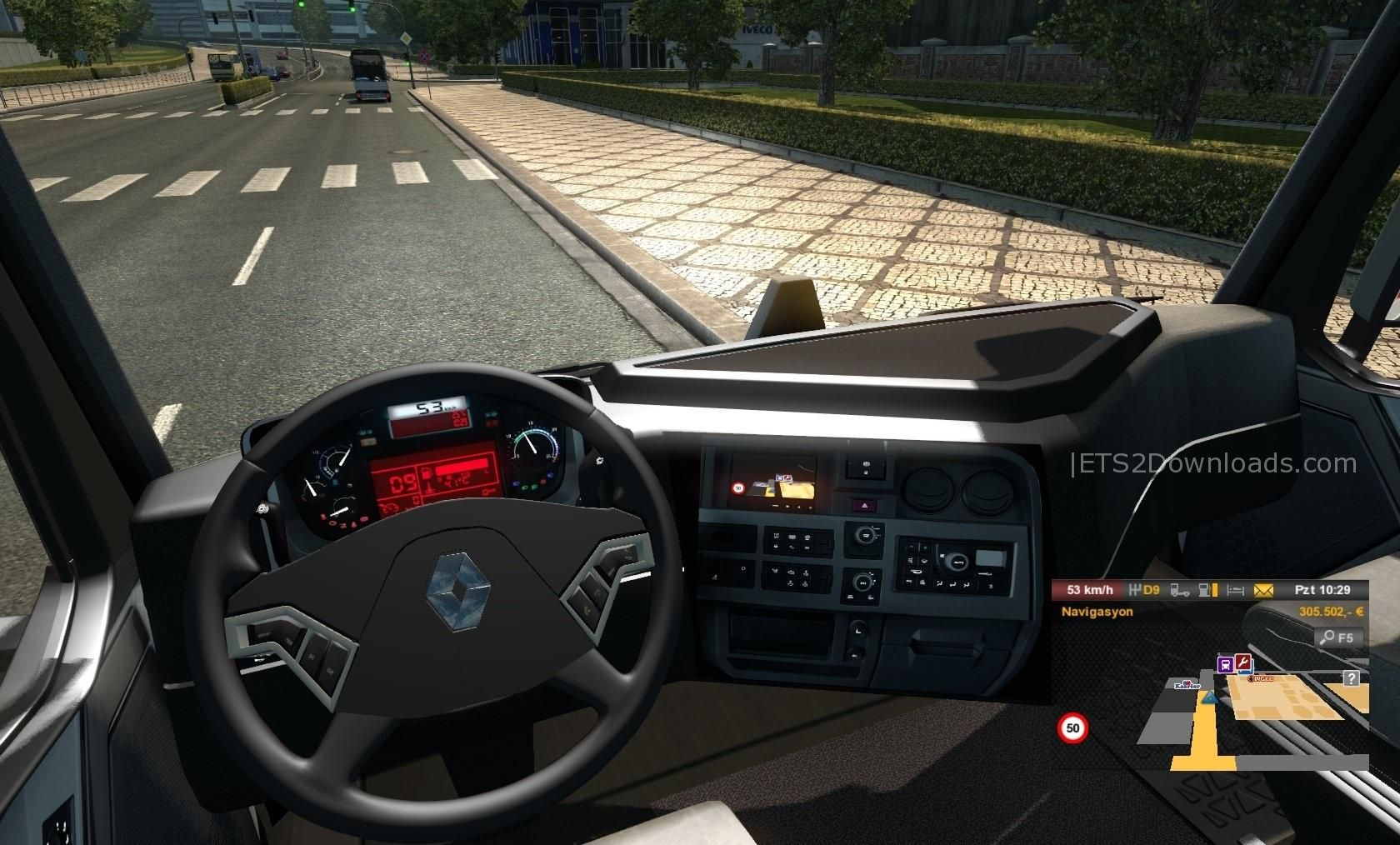 Renault range t by polatl mods team v7 3 1 ets 2 mods for Renault range t interieur